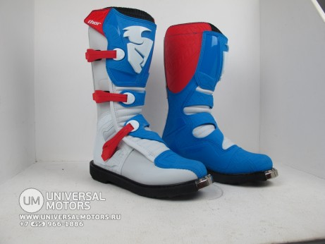 Ботинки Thor BOOT S5 BLITZ CE RED/BLUE (14731545722167)