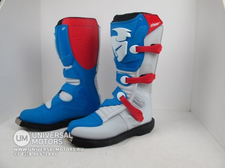 Ботинки Thor BOOT S5 BLITZ CE RED/BLUE (14731545750583)