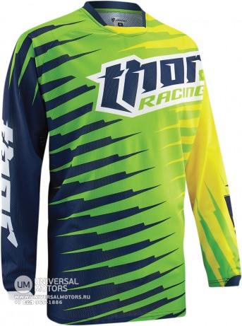 Джерси THOR PHASE VENTED RIFT LIME YOUTH JERSEY (1438165077303)