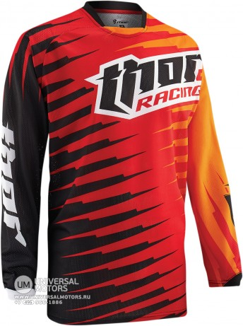 Джерси THOR PHASE VENTED RIFT RED YOUTH JERSEY (14381651452577)