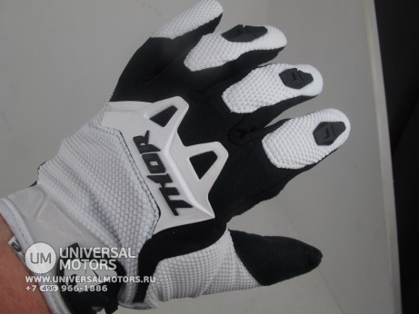 Перчатки THOR SPECTRUM WHITE YOUTH GLOVE (14717028331308)