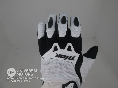 Перчатки THOR SPECTRUM WHITE YOUTH GLOVE (14717028337553)