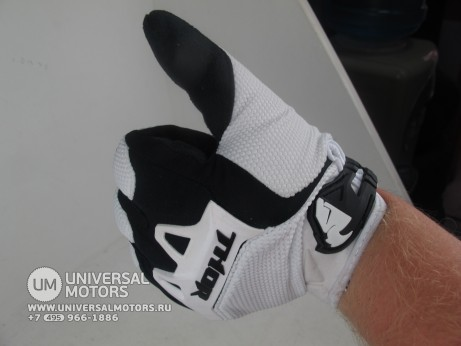 Перчатки THOR SPECTRUM WHITE YOUTH GLOVE (14717028357071)