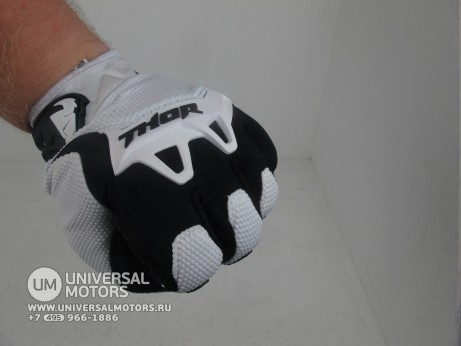 Перчатки THOR SPECTRUM WHITE YOUTH GLOVE (14717028364603)