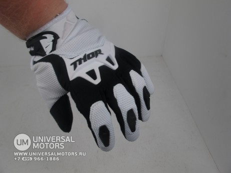Перчатки THOR SPECTRUM WHITE YOUTH GLOVE (14717028370904)