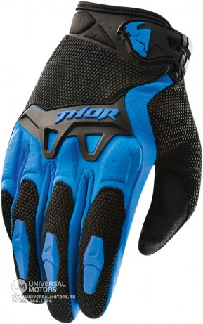 Перчатки THOR SPECTRUM BLUE YOUTH GLOVE (14381710893864)