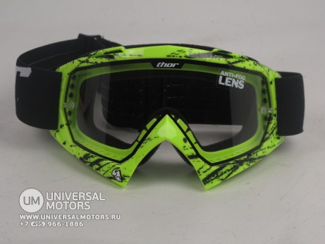 Очки Thor ENEMY SPLATTER GREEN YOUTH GOGGLE (15065051579928)