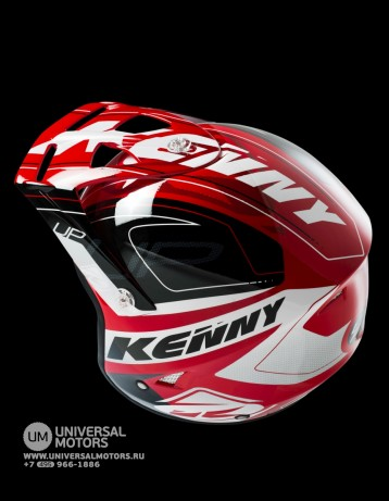Шлем Kenny HELMET TRIAL-UP WHITE RED (14428496083629)
