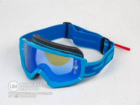 Очки Scott HUSTLE MX Electric blue/electric blue chrome (14685955725201)