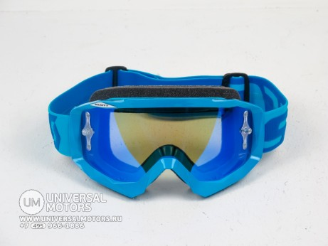 Очки Scott HUSTLE MX Electric blue/electric blue chrome (14685955739052)