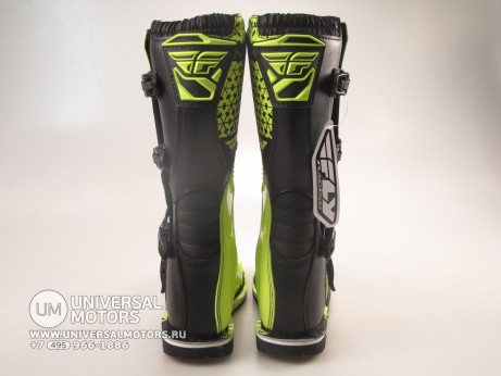 Мотоботы FLY RACING MAVERIK MX (2016) черные/Hi-Vis желтые (14522614463935)