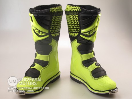 Мотоботы FLY RACING MAVERIK MX (2016) черные/Hi-Vis желтые (14522614475479)