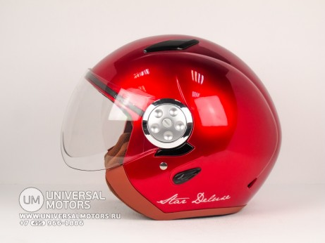 Шлем LML JET STAR DELUXE METALLIC RED (14640289541187)