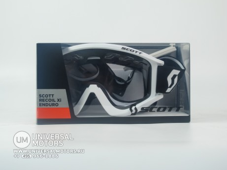 Очки Scott recoil XI enduro white clear (14908868807614)