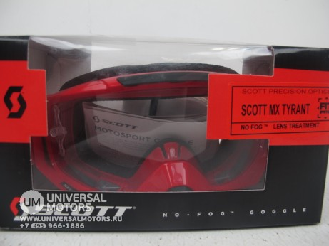 Очки Scott MX TYRANT SGL red / clear (14717087254191)