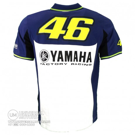Футболка поло Official Yamaha Rossi VR46 Polo Shirt (14697969423175)