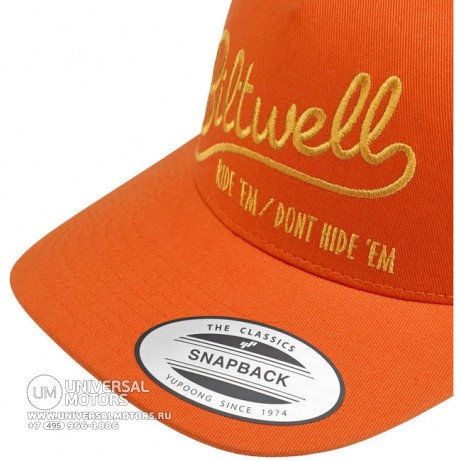 Кепка BILTWELL RIDE 'EM TRUCKER HAT - ORANGE (14721335307569)
