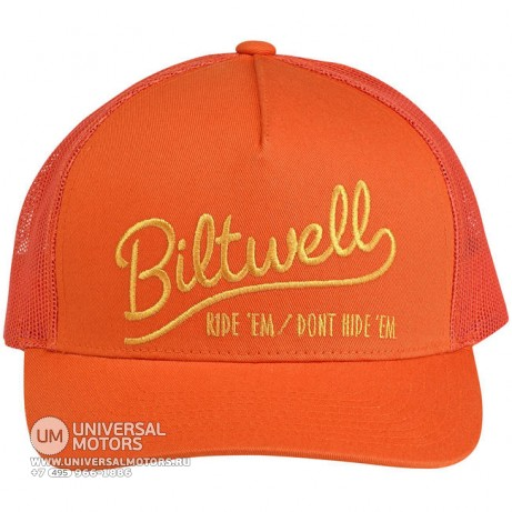 Кепка BILTWELL RIDE 'EM TRUCKER HAT - ORANGE (14721335310699)
