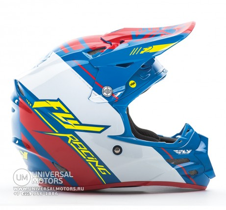 Шлем Fly Racing F2 CARBON MIPS REPLICA Canard Replica Blue/White/Red (14722077867602)