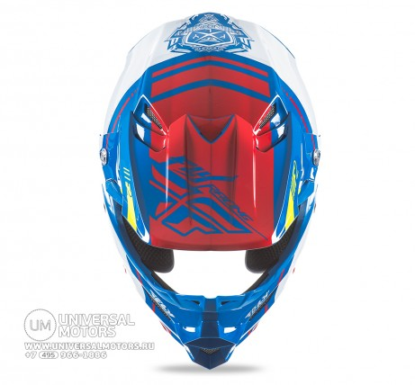 Шлем Fly Racing F2 CARBON MIPS REPLICA Canard Replica Blue/White/Red (14722077904283)