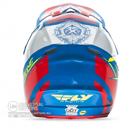 Шлем Fly Racing F2 CARBON MIPS REPLICA Canard Replica Blue/White/Red (14722077932561)