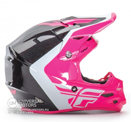 Шлем Fly Racing F2 CARBON PURE Pink/White/Black (14722116144012)