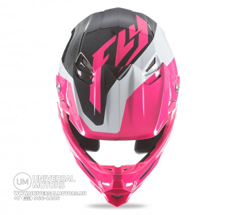 Шлем Fly Racing F2 CARBON PURE Pink/White/Black (14722116163075)