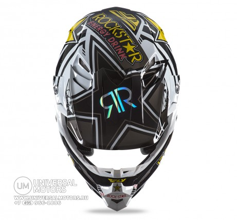 Шлем Fly Racing F2 CARBON ROCKSTAR Yellow/Black (14722135498396)