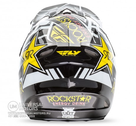 Шлем Fly Racing F2 CARBON ROCKSTAR Yellow/Black (14722135540659)