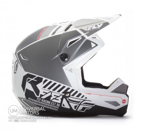 Шлем Fly Racing KINETIC ELITE ONSET Matte White/Grey  (14722155004136)