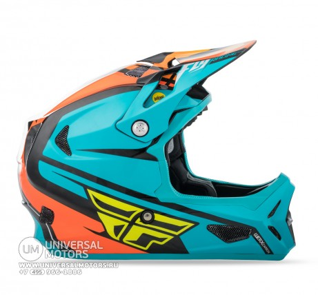 Шлем Fly Racing WERX RIVAL MIPS Teal/Orange/Black  (14724562544104)