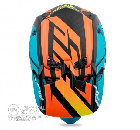 Шлем Fly Racing WERX RIVAL MIPS Teal/Orange/Black  (14724562569758)