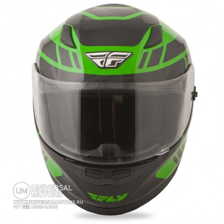 Шлем Fly Racing CONQUEST Retro Green/Black (14724650995718)