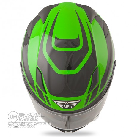 Шлем Fly Racing CONQUEST Retro Green/Black (14724651041698)