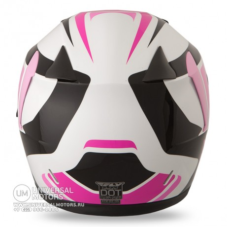 Шлем Fly Racing CONQUEST Retro Pink/White/Black (14724657079223)