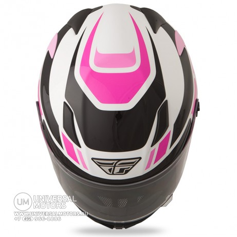 Шлем Fly Racing CONQUEST Retro Pink/White/Black (14724657099477)