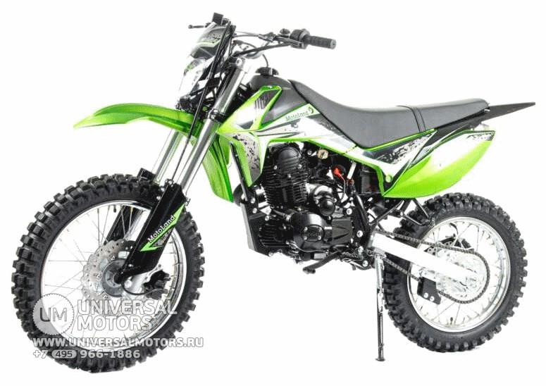 Кроссовый мотоцикл Motoland RZ200 купить в Москве, цены, продажа, интернет-магазин